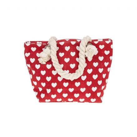 Hearts Small Handbag in Red